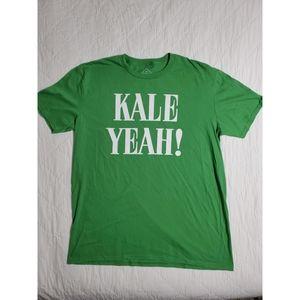 Kale Yeah! Green Graphic T-Shirt, Size XL
